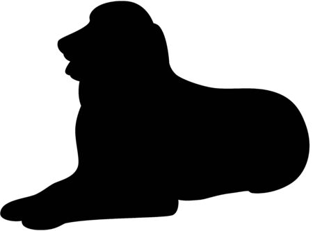 Illustration of a funny dog silhouette, isolated Vector