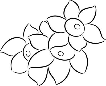 Beautiful illustration of a three flowers, isolated Stock Vector - 9287393