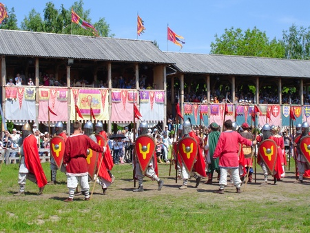 rus: Ukraine - May the 21, 2011: International Festival - Kievan Rus - XIII century