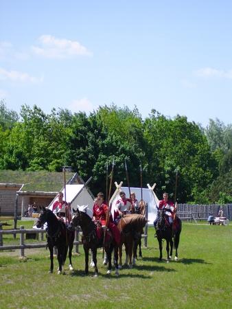 cavalry: Ukraine - May the 21, 2011: International Festival - Kievan Rus - XIII century   Russian Cavalry.