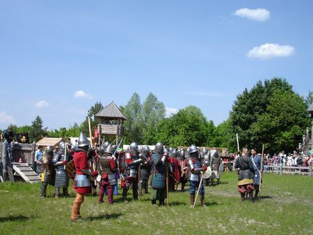Ukraine - May the 21, 2011: International Festival - Kievan Rus - XIII century