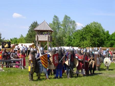 hauberk: Ukraine - May the 21, 2011: International Festival - Kievan Rus - XIII century