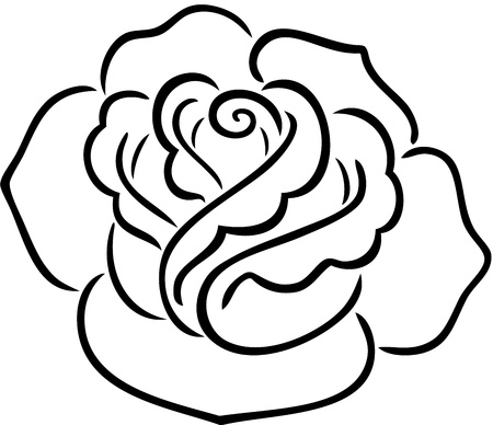 A decorative tattoo of a rose, isolated.