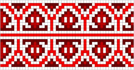 illustration of Ukrainian embroidery ornaments with geometric motives Vector