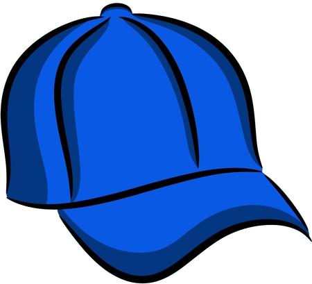 Illustration of Blue baseball cap, isolated