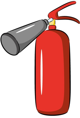 fire extinguisher symbol: Illustration of red fire extinguisher, isolated Illustration