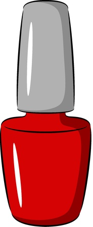 cosmetic lacquer: illustration - bottle of nail polish, isolated