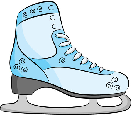 Skates for figure skating, isolated Vector