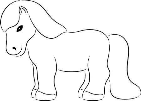 trot: Illustration of a funny horse, isolated