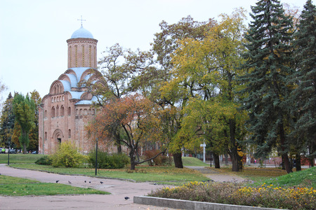 12th century: Pyatnytska church is a functioning church in Chernigiv Ukraine. It was built at 12th century. Reproduce with great authenticity.
