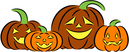 illustration about a typical big Halloween pumpkins, isolated Illustration