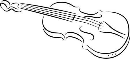 fiddle: illustration of a cute violin, isolated