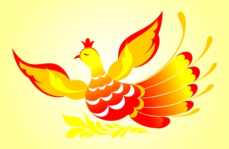 Vector illustration of fire bird Vector