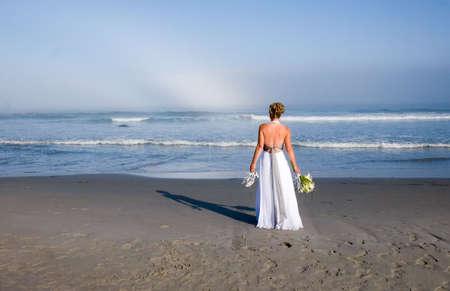 Bride at the Ocean