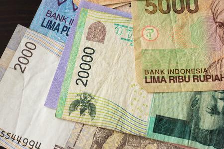 rupiah: Some banknotes of Indonesian rupiah Stock Photo