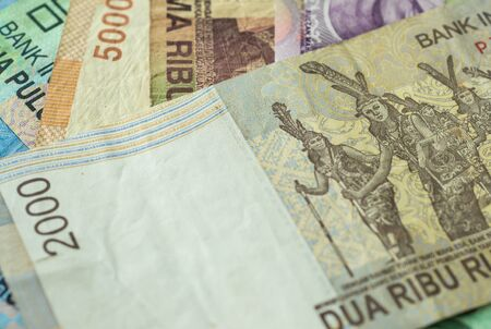 rupiah: Background from Indonesian rupiah Stock Photo