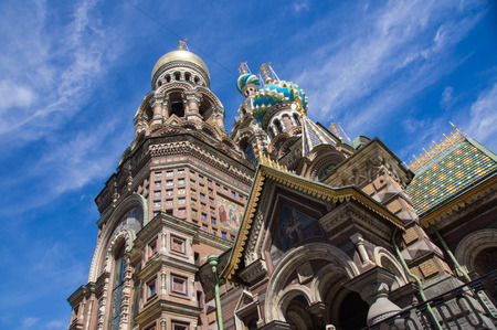 st  petersburg: The temple of Christs rise in St. Petersburg