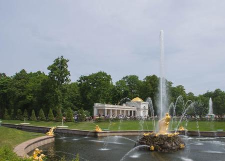 peterhof: Samson Fountain in Peterhof Palace, Russia Editorial