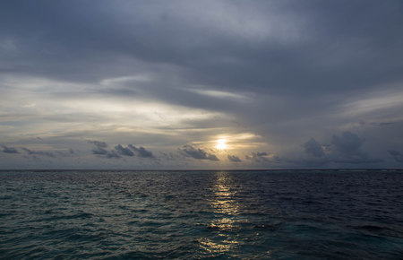 indian ocean: Sunset over the Indian Ocean Stock Photo