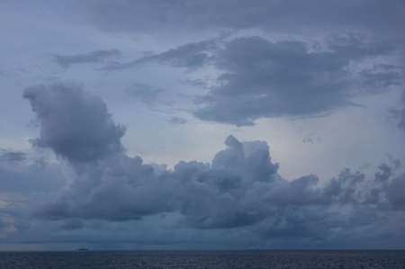 evening sky: Evening sky at sunset over the Indian Ocean