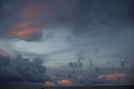 indian ocean: Evening sky at sunset over the Indian Ocean