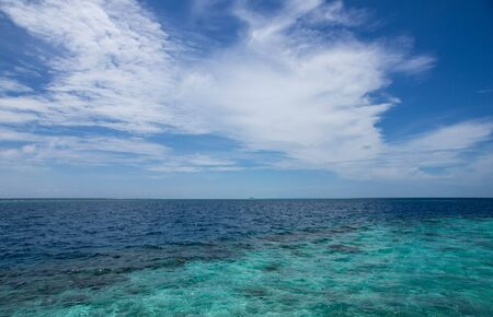 indian ocean: Beautiful sky over the Indian Ocean on a clear day