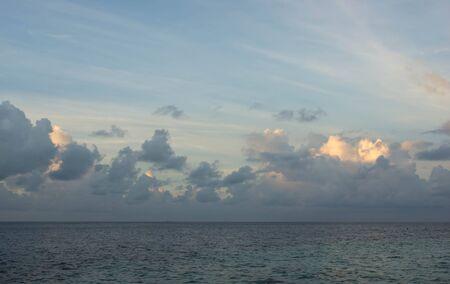 evening sky: Evening sky over the ocean in the tropics