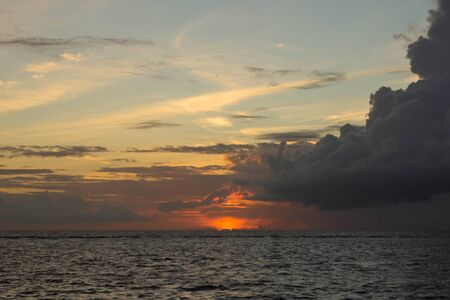 tropics: Evening sky over the ocean in the tropics
