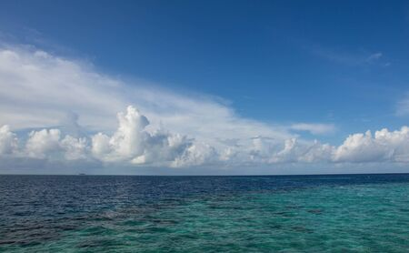 indian ocean: Beautiful cloudy sky over the Indian Ocean