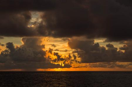 tropics: Beautiful cloudy sky at sunset in the tropics Stock Photo