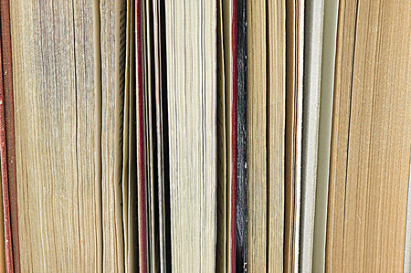 bookcover: A stack of old books close up Stock Photo