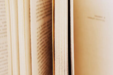 Close up of stack of old books