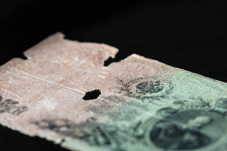 rubles: Obsolete banknote in twenty-five Russian rubles close up Stock Photo