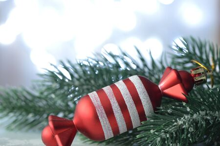 light chains: Christmas decorations with bokeh background