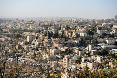 ancient near east: View of Jerusalem in the early morning, Israel Stock Photo