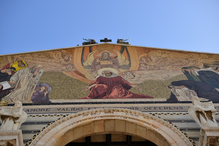 ancient near east: Facade of the Church of All Nations in Jerusalem,  Israel