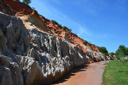 Fairy Stream (Suoi Tien), red canyon in Mui Ne, Vietnam Stock Photo