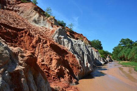 ne: Fairy Stream (Suoi Tien), red canyon in Mui Ne, Vietnam Stock Photo