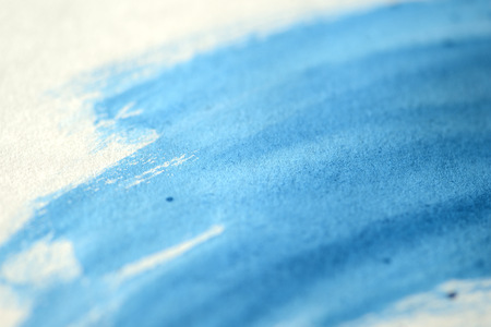 Abstract blue hand draw watercolor background close up