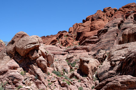 Rock Formation in Red Rock Canyon, Nevada Stock Photo