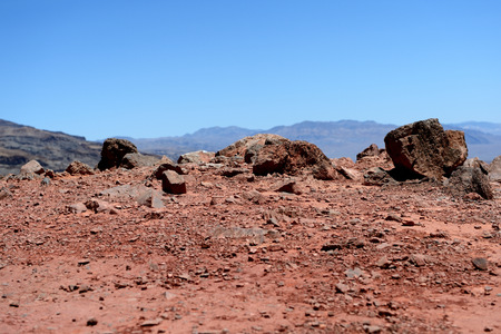 Red rocks and sand in Death Valley National Park, California, USA