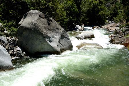sequoia: Mountain river in Sequoia National Park, California, USA Stock Photo
