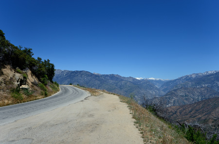 Empty road in Kings Canyon National Park, California, USA
