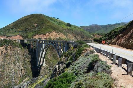 Bixby Creek Bridge on California State Route One, California, USA Stock Photo