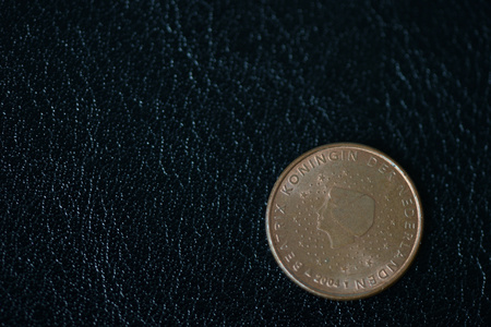 Coin in one euro cent on a dark background close up Stock Photo
