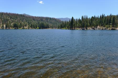 Beautiful mountain lake in Sequoia National Park, California, USA
