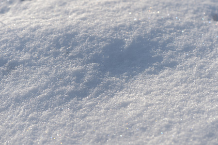The texture of the snow close up. WInter background