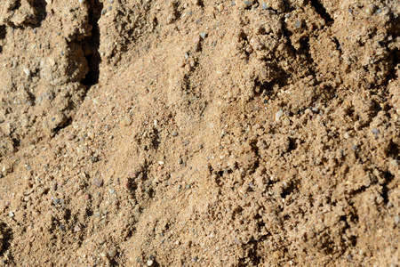 Texture of sand. Construction sand close up background