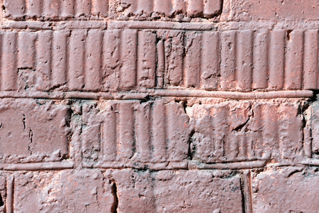 Painted brick wall texture close up. Brick wall background