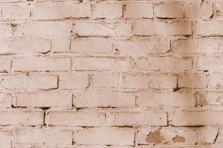 Old brick wall texture. Brick wall background brown color toned